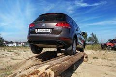 Test-aandrijving van Volkswagen-auto Royalty-vrije Stock Afbeeldingen