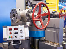 Test bench for wellhead and anti-blowout equipment Stock Image