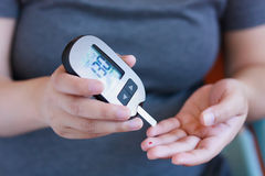 Test Blood Glucose For Diabetes royalty free stock photography