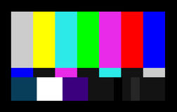 Test card for computer screen. An image showing a computer or TV screen test card Stock Photo