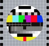 Test Card. Technical break on television Royalty Free Stock Photos