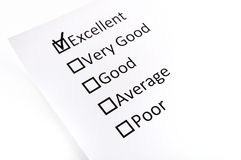 Test check boxes with the black mark. On the white background Royalty Free Stock Image