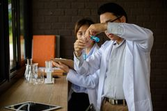 test chemical liquid substance in lab Stock Photography