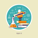 Test it concept in flat design Stock Images