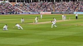 Test Cricket Match. International test cricket match between England and India. Edgbaston, Birmingham, England, UK Stock Photo