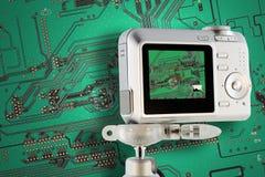 Test de circuit industriel avec l'appareil photo numérique photos libres de droits