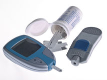 Test de diabète Image stock