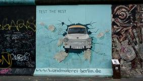 Test de Rest Berlin Wall East Side Gallery Stock Foto's