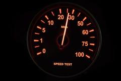 Test de vitesse de connexion internet images libres de droits