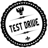 TEST DRIVE black stamp. Royalty Free Stock Photography