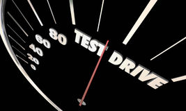 Test Drive Car Vehicle Evaluation Review Shopping Stock Image