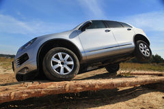 Test-drive on extrime road Stock Image