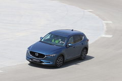 Test-drive of second generation restyled Mazda CX-5 crossover SUV Royalty Free Stock Images