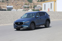 Test-drive of second generation restyled Mazda CX-5 crossover SUV Stock Photos