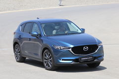 Test-drive of second generation restyled Mazda CX-5 crossover SUV Royalty Free Stock Photo