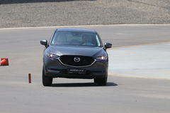 Test-drive of second generation restyled Mazda CX-5 crossover SUV Royalty Free Stock Image
