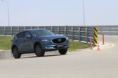 Test-drive of second generation restyled Mazda CX-5 crossover SUV Stock Image
