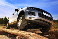 Test-drive of SUV Stock Images