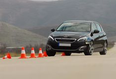 Test driving a car Stock Photography