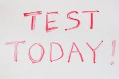 test dzisiaj Zdjęcie Stock
