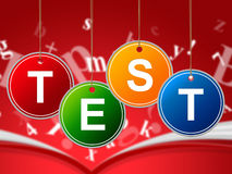 Test Education Represents Educated Educating And Schooling. Exam Education Meaning Exams Training And Learned Royalty Free Stock Image
