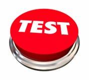 Test Evaluation Analyze Assessment Button. 3d Illustration Stock Photos