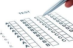 Test on exam