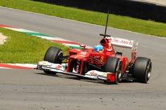 Test F1 Mugello Anno 2012 Fernando Alonso Royalty-vrije Stock Afbeelding