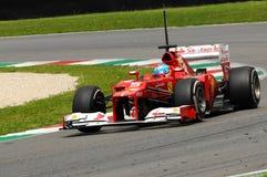 Test F1 Mugello Anno 2012 Fernando Alonso Royalty-vrije Stock Afbeeldingen