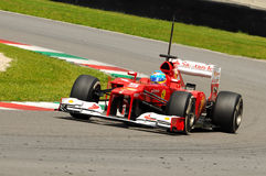 Test F1 Mugello Anno 2012 Fernando Alonso Royalty Free Stock Image