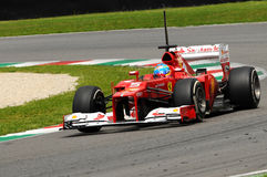 Test F1 Mugello Anno 2012 Fernando Alonso Royalty Free Stock Images