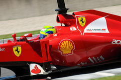 Test F1 Mugello Felipe Massa Anno 2012 Stock Foto