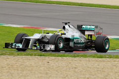 Test F1 Mugello Nico Rosberg Anno 2012 Royalty Free Stock Images