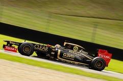 Test F1 Mugello 2012 Romain Grosjean Stock Afbeelding