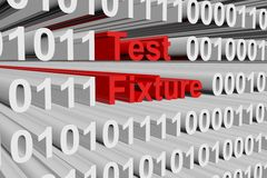 Test fixture. In the form of binary code, 3D illustration Royalty Free Stock Photography