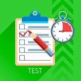 Test Flat Icon Set Stock Image