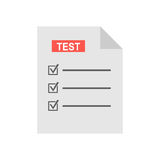 Test form icon, vector illustration Royalty Free Stock Photo