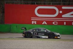 Test GT3 2016 Audis R8 LMS ultra in Monza Stockfotografie