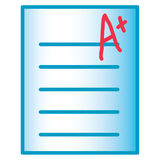 Test icon Royalty Free Stock Photography