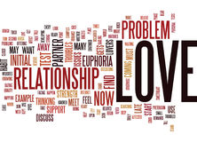 Test If Your Love Will Stand Rough Spots Text Background Word Cloud Concept Stock Photography