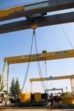 Test load big crane Stock Photos