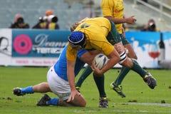 Test match 2010 del rugbi: Italia contra Australia Fotos de archivo libres de regalías