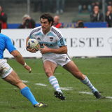 Test match 2010 do rugby: Italy contra Argentina (16-22) Imagem de Stock Royalty Free