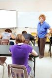 Test objectif dans le lycée Photos stock