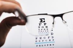 Test oczu szkła Fotografia Stock