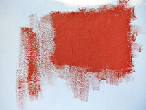 Test painting with red color Royalty Free Stock Photography