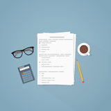 Test papers illustration Stock Photos