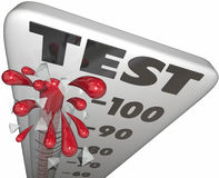 Test Quiz Evaluation Assessment Thermometer Grade Score Royalty Free Stock Photos