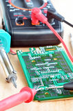 Test repair job on electronic printed circuit boar Royalty Free Stock Image