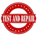 Test and repair. Stamp with words test and repair inside,  illustration Royalty Free Stock Photos
